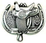 Saddle n Horseshoe Western Belt Buckle