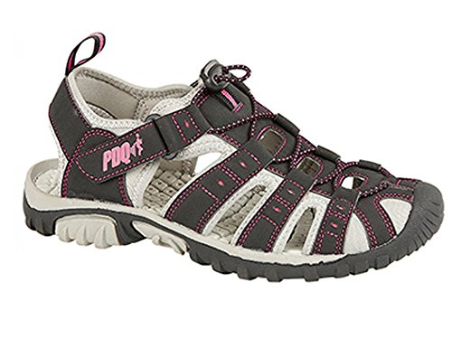 PDQ Womens Ladies Walking Sandals/Black Pink Adventure Sports Shoes Clearance A1Dac