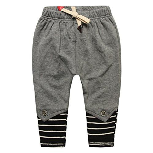 [100% COTTON]Baby cotton pants casual pants Leggings GREY - 1
