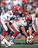 Jeff Van Note (Atlanta Falcons) Autographed/ Original Signed 8x10 Color Action-photo - He Played for Atlanta From 1969 to 1985