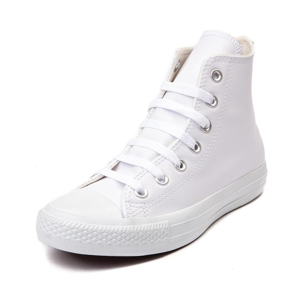 Converse Chuck Taylor All Star Leather High Top Sneaker B01MXHCZ9Q 37 M EU / 6.5 B(M) US Women / 4.5 D(M) US Men|White Monochrome