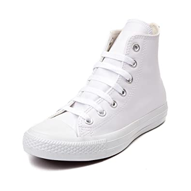 7d21f3d33284 Image Unavailable. Image not available for. Color  Converse Chuck Taylor  All Star HI Men s Shoe White Mono ...