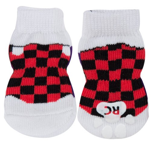 RC Pet Products PAWks Dog Socks, X-Large, Checkered Sneakers