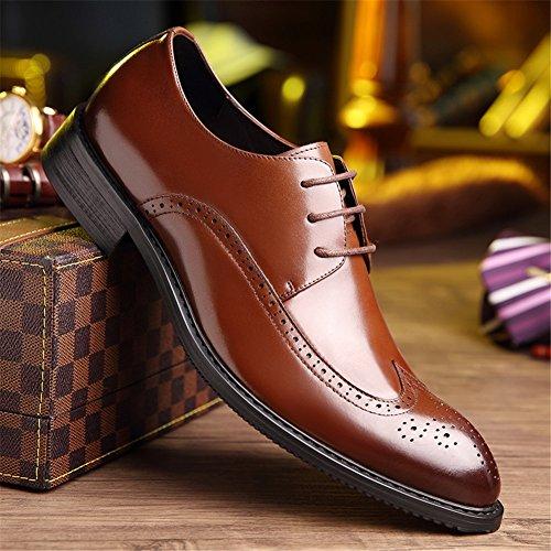 de Zapatos Comodidad Otoño Para Carrera Negocios Boda formales La Seguridad Brown de Trabajo y Primavera HUAN Noche y Oficina Informal Zapatos Para y Fiesta y Hombres pX5q5P