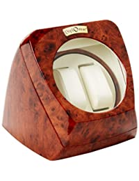 Diplomat Men Burl Wood Double Watch Winder 31-402