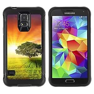 "Hypernova Defender Series TPU protection Cas Case Coque pour Samsung Galaxy S5 V [Puesta de sol Beautiful Nature 4""]"