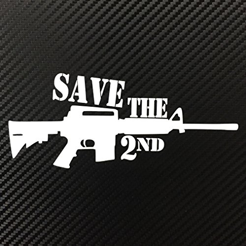State Police Decals (Save The 2nd Amendment AR15 Rifle Decal Sticker Custom Die-cut Vinyl American USA Merica United States Marines Army Navy Airforce Police gun)