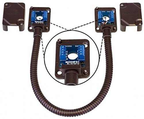 SECO-LARM SD-969-T15Q/B Armored Door Cord/Pre-Wired Terminal Blocks and Removable Covers, Bronze, Designed to carry wiring to conduct power to electric locks or access systems, Surface-mounted