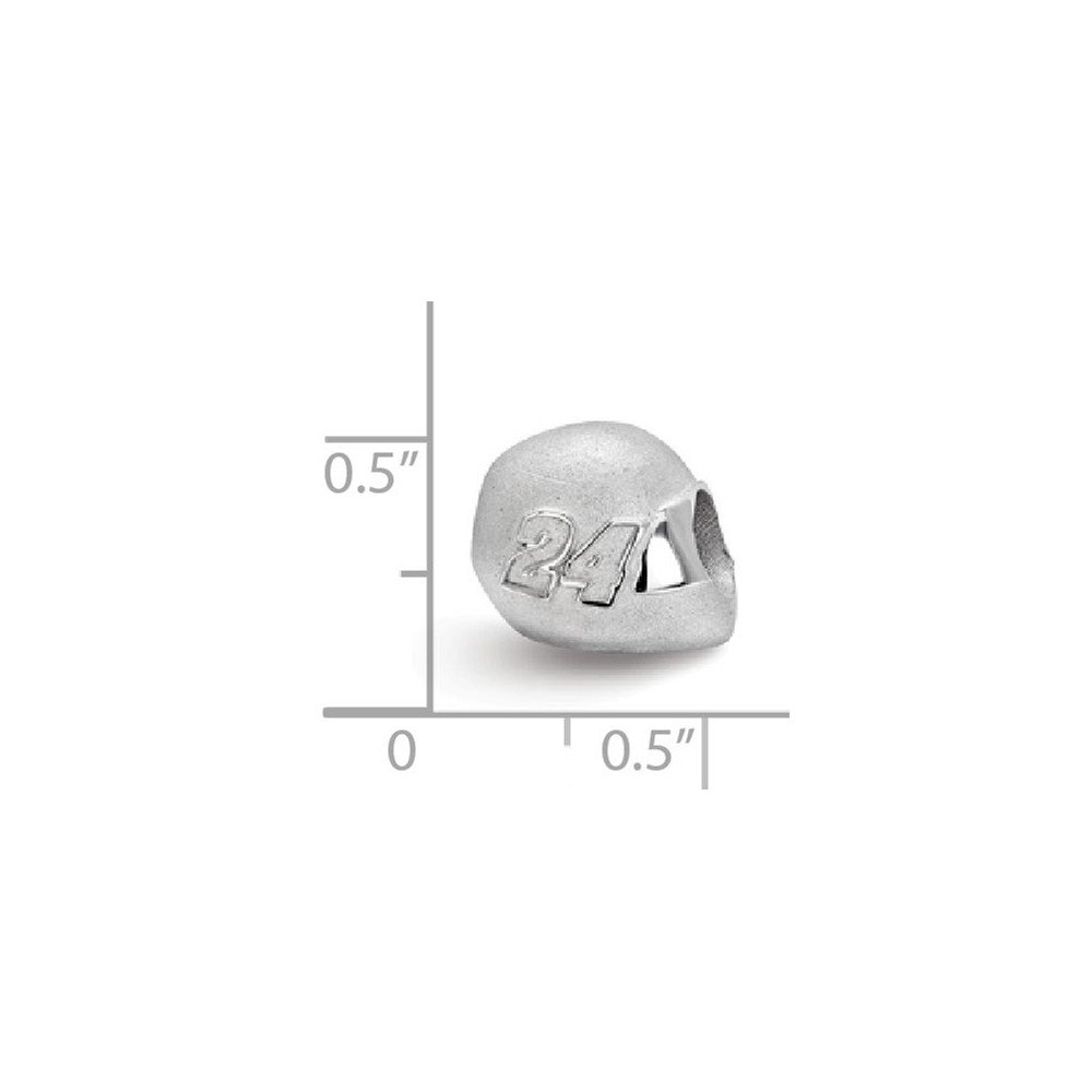 Sterling Silver BEAD HELMET DRIVER #24 Womens 12 mm 12 mm Beads Jewelry