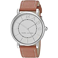 Marc Jacobs MJ1571 Womens Roxy 36mm Classic Stainless Steel and Leather Three-Hand Strap Watch