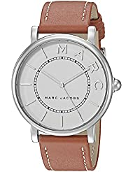 Marc Jacobs Womens Roxy Quartz Stainless Steel and Leather Casual Watch, Color:Brown (Model: MJ1571)