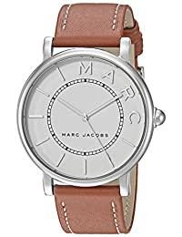 Marc Jacobs Women's 'Roxy' Quartz Stainless Steel and Leather Casual Watch, Color: Brown (Model: MJ1571)