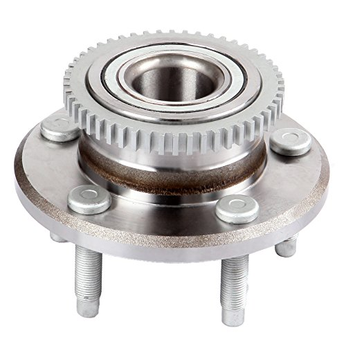 - cciyu 513221 Wheel Hub and Bearing Assembly Replacement for fit Ford Mustang V6 V8 2005-2010 has ABS Wheel Hubs 5 lugs (1)