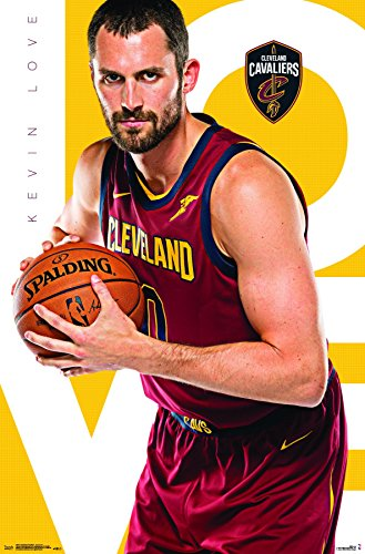 "Trends International Cleveland Cavaliers-Kevin Love Wall Poster, 22.375"" x 34"", Multicolor"