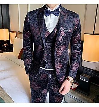 HWTP Trajes para Hombres: Trajes con Estampado de Moda ...