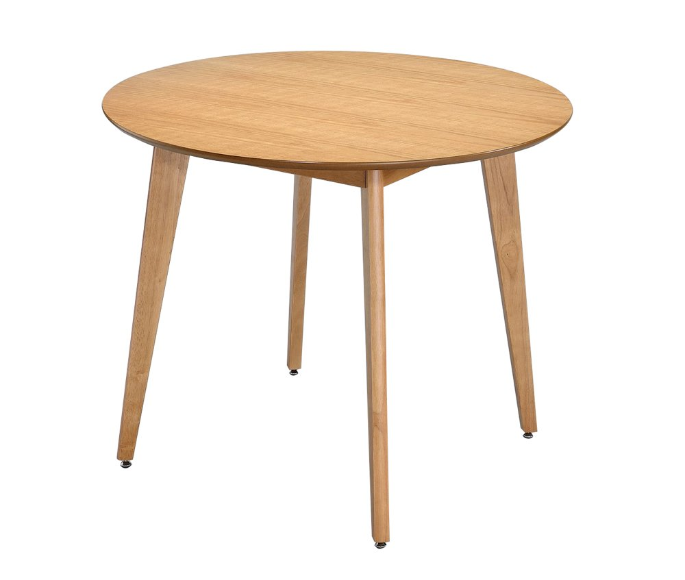 ASPECT Malmo 4 Seater Round Dining Table Oak Finish Table, Wood DT02OAK
