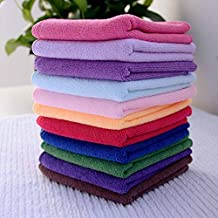 10Pcs Multifunctional Microfibre Towel Cleaning Cloth Home Kitchen Wash Duster Cloths