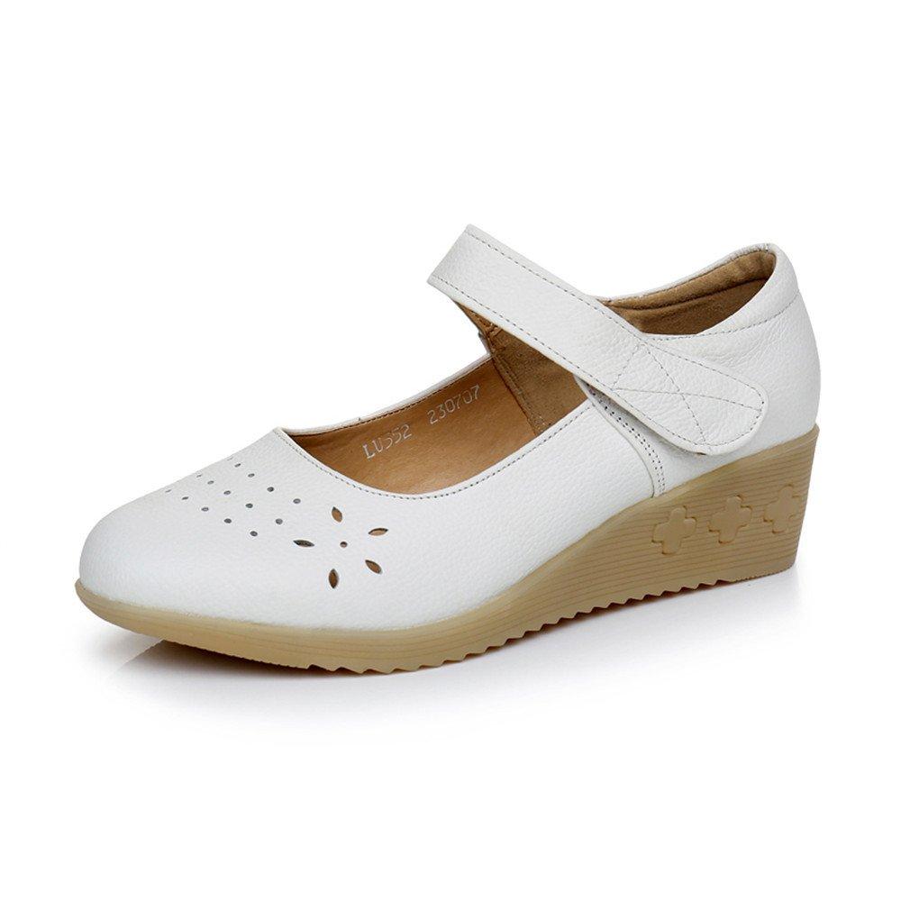 XZGC Feder Krankenschwester Schuhe Boden Leder Weichen Boden Schuhe mit Durchbrochenem Schuhe f1c7f4