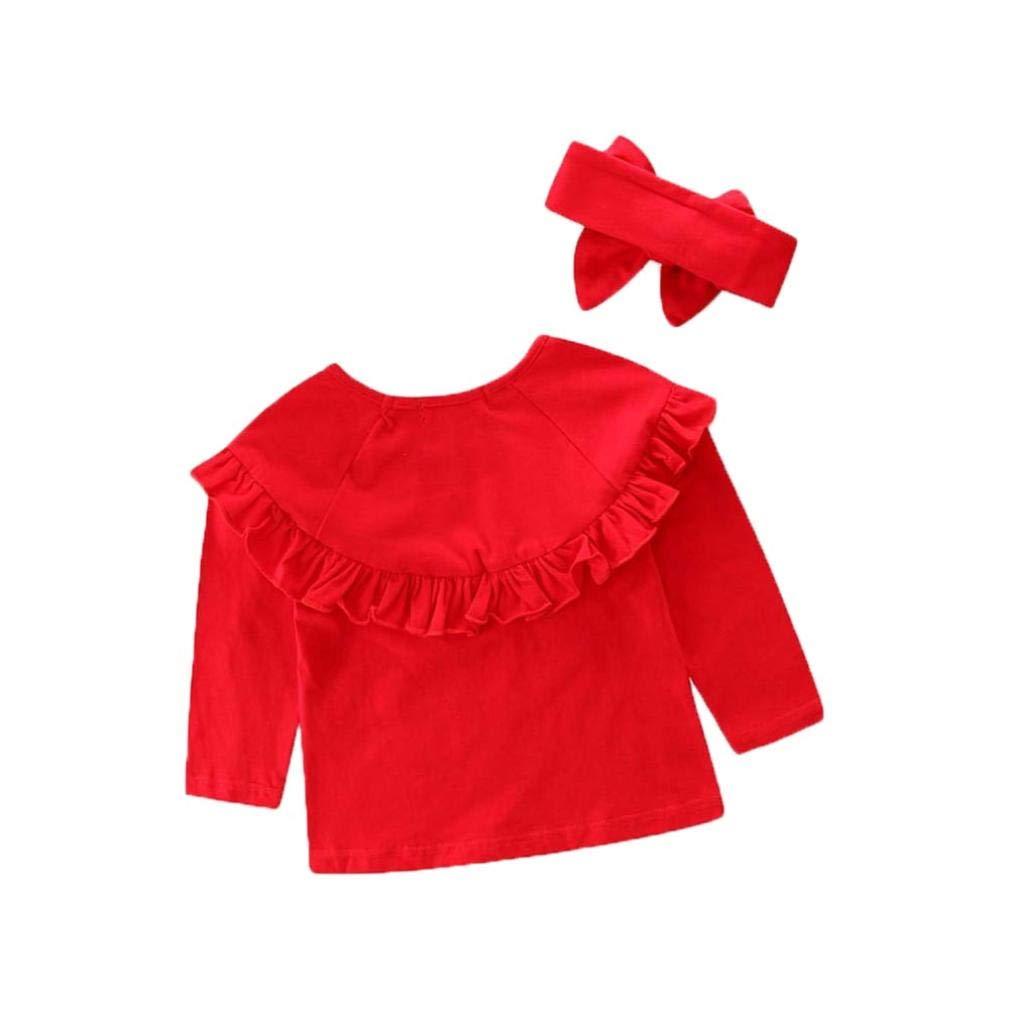Conjuntos Bebe, ASHOP 1-6 años Niño Niña Otoño/Invierno Ropa Conjuntos, Tapas sólidas + Pantalones Vaqueros Estampados Jeans: Amazon.es: Ropa y accesorios