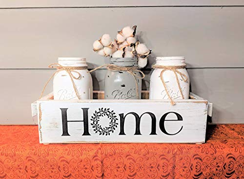 Mason Jars Centerpiece Farmhouse Style Home Rustic Wood Wedding ()