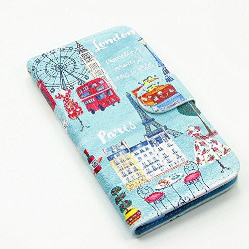 Sunroyal® para Samsung Galaxy S5/S5 NEO/GT-I9600/G900 Funda Case PU Cover Carcasa Accesorios Set, Premium Luxury Alta Calidad Flip Leather Telefono Plegable Caja de la Carpeta Bolsa de Moda Cubierta F Color14