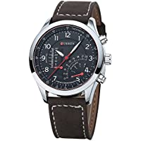 Relógio Curren Original 8152-2 Prata Masculino Novo Barato