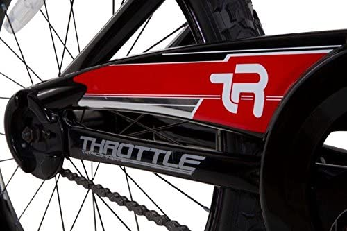 Black//Red//White Dynacraft Magna Throttle Boys BMX Street//Dirt Bike 20