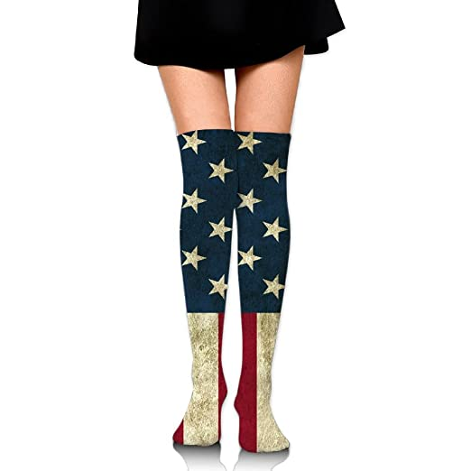 b9e6f7332 Image Unavailable. Image not available for. Color  Women s Long Socks  American Stars And Stripes ...