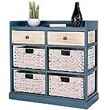 BESTChoiceForYou Cabinet Table Storage Side Wood Drawers Console Sideboard Cupboard W Furniture End Vidaxl White Baskets Drawer Door Home