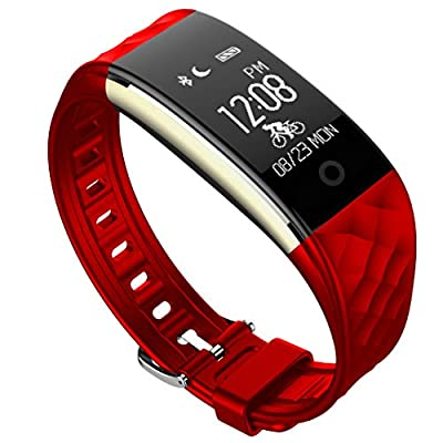 HYON Fitness Tracker,IP67 Waterproof Outdoor Sport Touch Screen Smart Band Remind Message Push Pedometer Heart Rate Monitor