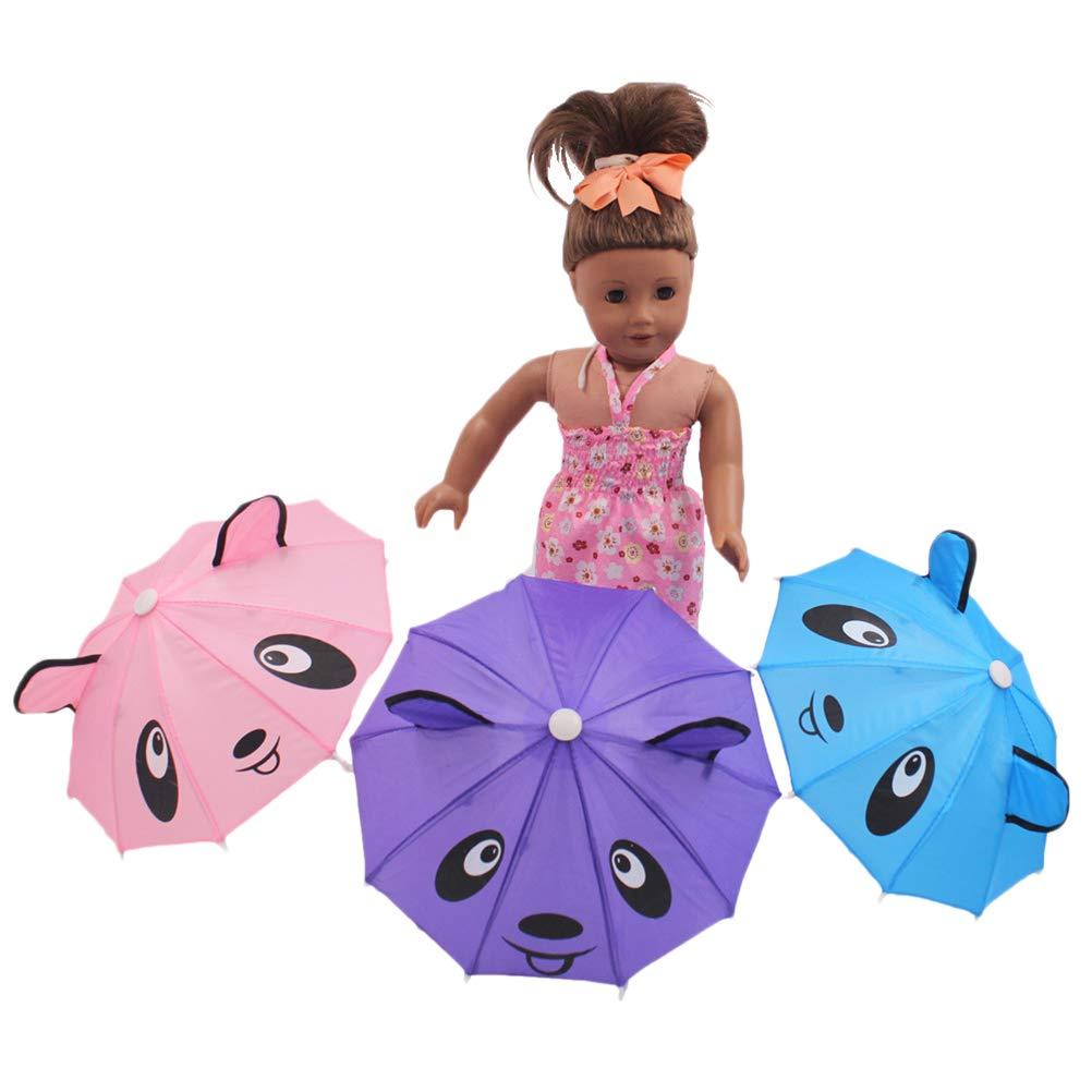 Yissma Adatto per Ragazzi e Ragazze Verde Ombrello per Bambini con Animali 3D