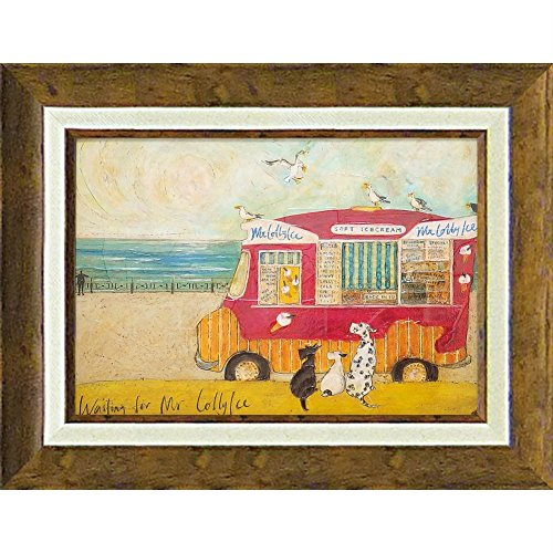【絵画】サム トフト「アイスクリーム食べたいなぁ」/インテリア 額入り ポスター 油絵 ゲル加工 アートパネル リビング 玄関 プレゼント ナチュラル B07678W2GN