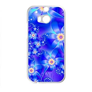 Artistic aesthetic blue fractal fashion phone case for HTC One M8 BY RANDLE FRICK by heywan