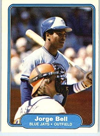 Amazoncom 1982 Fleer Baseball Card 609 Jorge Bell Rc