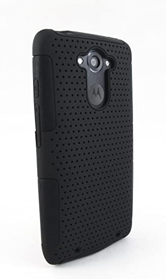 Motorola DROID TURBO Case, Kaleidio [Perforated Mesh] Dual Layer Hybrid Skin Case Cover