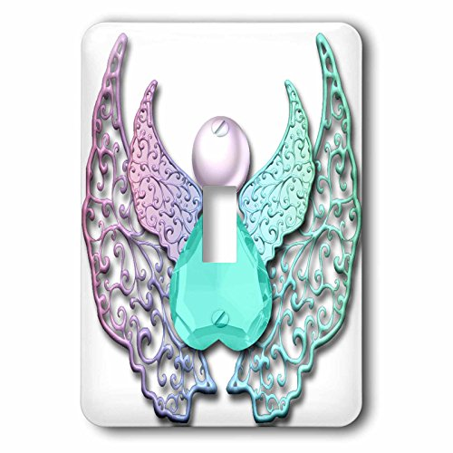 3dRose lsp_167210_1 Jeweled Angel Art With Lace Digital D Wings Toggle switch