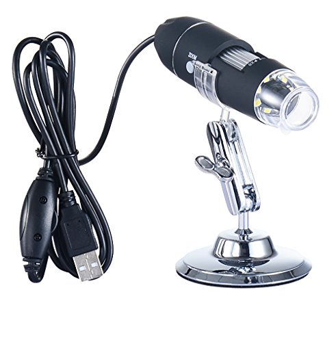 USB Digital Microscope 1-1000X Magnification Zoom 8-LED Lights 2.0MP HD Lens Work with Windows-Linux-Vista- Android Phones(OTG) (Infrared Windows Xp)