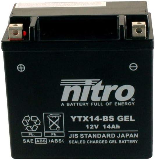 Batterie 12 V 12 Ah YTX14-BS Gel Nitro 51214 XRV 750 Africa Twin RD07 93-03