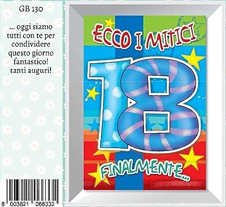 Tarjeta cumpleaños Ecco I mitici 18 años Marpimar: Amazon.es ...