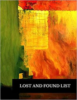 amazon lost and found list large 8 5 by 11 log 100 record pages