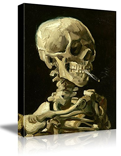 Skeleton by Vincent Van Gogh Painting Wall Decor