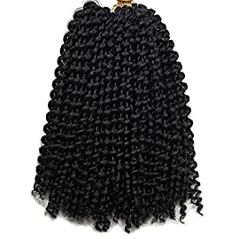 Afro kinky Curly Braiding Hair Extensions For Black Women Jerry Curl Crochet Hair 3X Braid Hair Short Synthetic Hair…