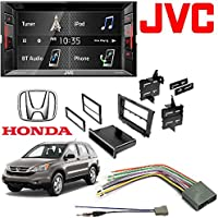 Jvc Double Din Bt In-dash Dvd/cd/am/fm Car Stereo W/6.2 Touchscreen CAR CD STEREO RECEIVER DASH INSTALL MOUNTING KIT + WIRE HARNESS + RADIO ANTENNA ADAPTER FOR HONDA 2007 - 2011 CR-V