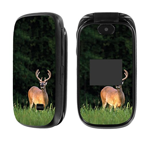 [AT&T] Z223 Skin [NakedShield] Scratch Guard Vinyl Skin Decal [Front and Back]- [Deer Hunting] for [AT&T] ZTE Z223 [GoPhone]