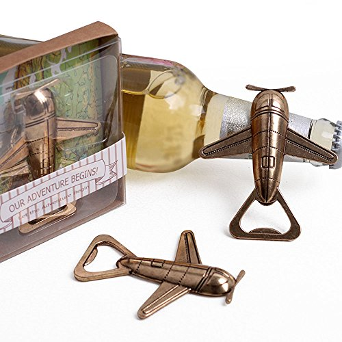 Wedding Favor Airplane Bottle Opener Set of 20]()
