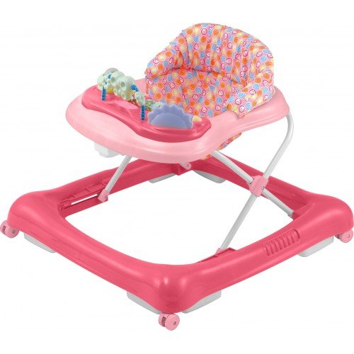 Big Oshi 2 in 1 Baby Walker & Activity Center on Wheels – Musical Walker with Tray Table Baby Activity Center with Toys and 12 Melodies – Adjustable Seat – Girls, Pink