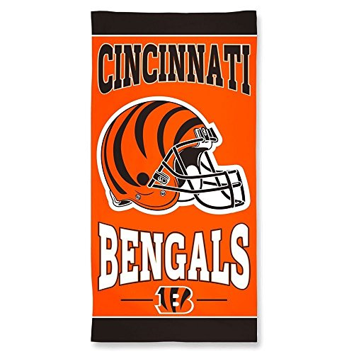 Big League Collection Bath - NFL Cincinnati Bengals 30 by 60 Fiber Reactive Beach Towel