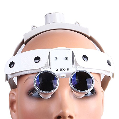 Zgood Dental White LED Head Light + Dental Surgical Glasses Binocular Loupes DY-108 3.5X-R by Zgood (Image #3)