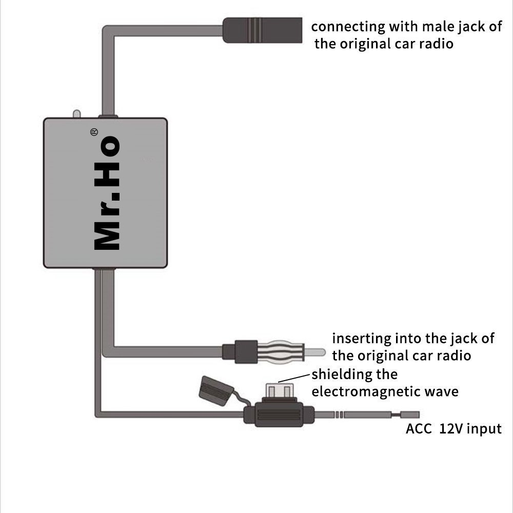 Mrho Car Radio Antenna Fm Am Signal Amplifier Booster Hidden Wiring Diagram 12v For Marine Boat Truck Rv Electronics