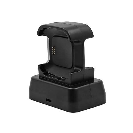 Crazystore Support de Montre Double Interface Uniquement pour Montre connectée Fitbit Versa avec Fonction de Charge et système de Protection intégré: ...